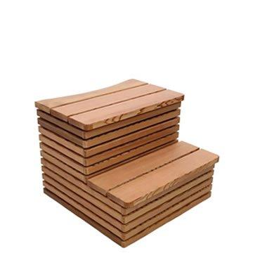 Hot Tub in legno scaletta Delux CR