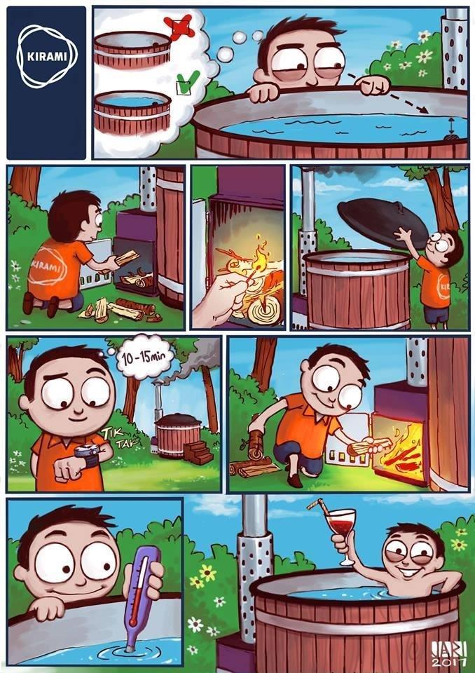 riscaldamento idromassaggio da giardino